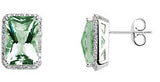 Exclusive Genuine Gemstone Green Quartz Earrings at BitCoin Gems