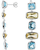 Eye Catching Genuine Gemstone Multi Earrings at BitCoin Gems