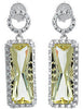 Expressive Genuine Gemstone Lemon Quartz Earrings at BitCoin Gems