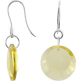 Beautiful Genuine Gemstone Quartz Earrings at BitCoin Gems