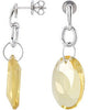 Fabulous Genuine Gemstone Quartz Earrings at BitCoin Gems