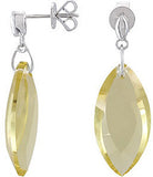 Majestic Genuine Gemstone Quartz Earrings at BitCoin Gems