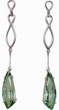 Unique Genuine Gemstone Green Quartz Earrings at BitCoin Gems