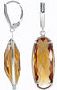 Fashionable Genuine Gemstone Quartz Earrings at BitCoin Gems