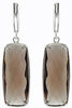 Smoldering Genuine Gemstone Smoky Quartz Earrings at BitCoin Gems