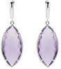 Stunning Genuine Gemstone Quartz Earrings at BitCoin Gems