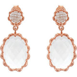 Gorgeous Genuine Gemstone Quartz Earrings at BitCoin Gems