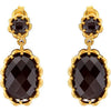 Elegant Genuine Gemstone Smoky Quartz Earrings at BitCoin Gems