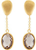 Lavish Genuine Gemstone Smoky Quartz Earrings at BitCoin Gems