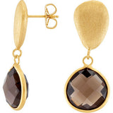 Stylish Genuine Gemstone Smoky Quartz Earrings at BitCoin Gems