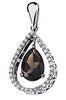 Amazing Genuine Gemstone Smoky Quartz Pendant for SALE at BitCoin Gems