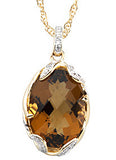 Inspired Genuine Gemstone Quartz Pendant for SALE at BitCoin Gems