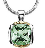 Astonishing Genuine Gemstone Green Quartz Pendant for SALE at BitCoin Gems