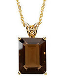 Beautiful Genuine Gemstone Smoky Quartz Pendant for SALE at BitCoin Gems