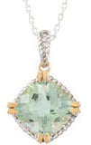 Breathtaking Genuine Gemstone Green Quartz Pendant for SALE at BitCoin Gems