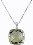 Fabulous Genuine Gemstone Green Quartz Pendant for SALE at BitCoin Gems