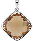 Fashionable Genuine Gemstone Smoky Quartz Pendant for SALE at BitCoin Gems