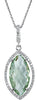 Ravishing Genuine Gemstone Green Quartz Pendant for SALE at BitCoin Gems