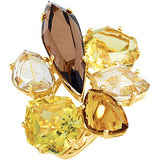 Attractive Multi Genuine Gemstone Ring at BitCoin Gems
