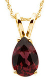 Modern Genuine Gemstone Rhodolite Garnet Pendant for SALE at BitCoin Gems