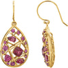 Amazing Genuine Gemstone Rhodolite Garnet Earrings at BitCoin Gems