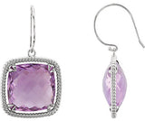 Genuine Gemstone Quartz Earrings at BitCoin Gems