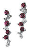 Magnificent Genuine Gemstone Ruby Earrings at BitCoin Gems