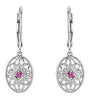 Classic Genuine Gemstone Ruby Earrings at BitCoin Gems