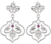 Finely Wrought Genuine Gemstone Ruby Earrings at BitCoin Gems