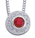 Lovely Genuine Gemstone Ruby Pendant for SALE at BitCoin Gems