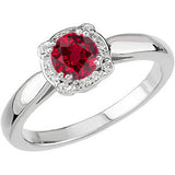 Fine Ruby Genuine Gemstone Ring at BitCoin Gems