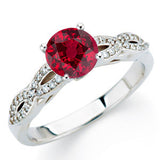 Fashionable Ruby Genuine Gemstone Ring at BitCoin Gems