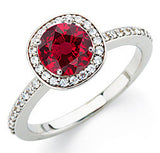 Trendy Ruby Genuine Gemstone Ring at BitCoin Gems