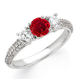 Magnificent Ruby Genuine Gemstone Ring at BitCoin Gems