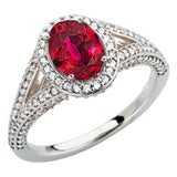 Eye Catching Ruby Genuine Gemstone Ring at BitCoin Gems