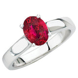 Lovely Ruby Genuine Gemstone Ring at BitCoin Gems