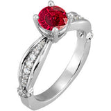Chic Ruby Genuine Gemstone Ring at BitCoin Gems