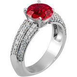 Pretty Ruby Genuine Gemstone Ring at BitCoin Gems