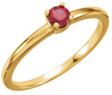 Beautiful Chatham Created Ruby Genuine Gemstone Ring at BitCoin Gems