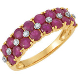 Exquisite Ruby Genuine Gemstone Ring at BitCoin Gems
