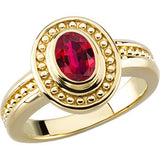 Elegant Ruby Genuine Gemstone Ring at BitCoin Gems