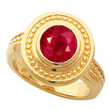 Snazzy Ruby Genuine Gemstone Ring at BitCoin Gems