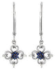 Exceptional Genuine Gemstone Blue Sapphire Earrings at BitCoin Gems