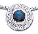 Radiant Genuine Gemstone Blue Sapphire Pendant for SALE at BitCoin Gems