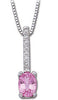 Astonishing Genuine Gemstone Pink Sapphire Pendant for SALE at BitCoin Gems