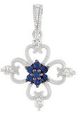 Exquisite Genuine Gemstone Blue Sapphire Pendant for SALE at BitCoin Gems