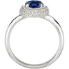 Chic Blue Sapphire Genuine Gemstone Ring at BitCoin Gems
