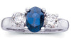Exquisite Blue Sapphire Genuine Gemstone Ring at BitCoin Gems