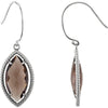 Lovely Genuine Gemstone Smokey Quartz Earrings at BitCoin Gems