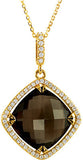 Exceptional Genuine Gemstone Smoky Quartz Pendant for SALE at BitCoin Gems